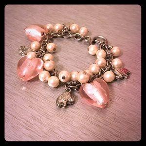 Jewelry - Elephant & Hearts Charm Bracelet